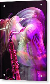 The Saxophone Player Acrylic Print by Gerry Walden