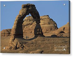 The Scale Of Delicate Arch Acrylic Print by Stan and Anne Foster