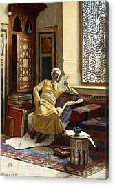 The Scholar Acrylic Print by Ludwig Deutsch