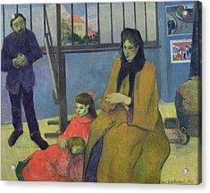 The Schuffenecker Family Acrylic Print by Paul Gauguin