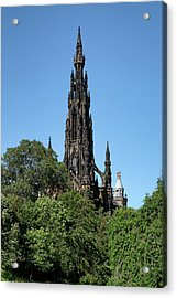 Acrylic Print featuring the photograph The Scott Monument In Edinburgh, Scotland by Jeremy Lavender Photography