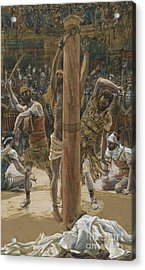 The Scourging On The Back Acrylic Print by Tissot
