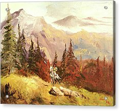 Acrylic Print featuring the painting The Scout by Alan Lakin