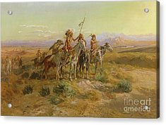 The Scouts Acrylic Print by Charles Marion Russell