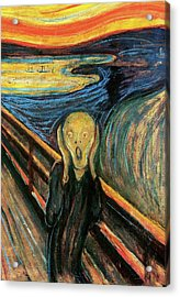 The Scream Flame Tree Edition Acrylic Print by Edvard Munch