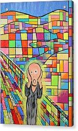 The Scream Jeremy Style Acrylic Print