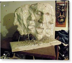 The Scream Acrylic Print by John Baker