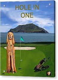 The Scream World Tour Golf  Hole In One Acrylic Print