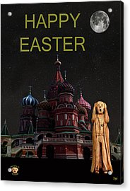 The Scream World Tour Moscow Happy Easter Acrylic Print by Eric Kempson