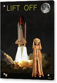 The Scream World Tour Space Shuttle Lift Off Acrylic Print by Eric Kempson