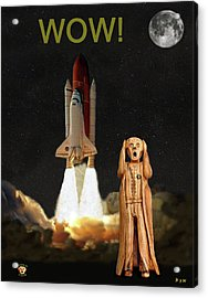 The Scream World Tour Space Shuttle Wow Acrylic Print by Eric Kempson