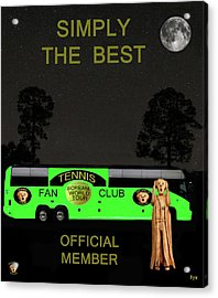 The Scream World Tour Tennis Tour Bus Simply The Best Acrylic Print by Eric Kempson