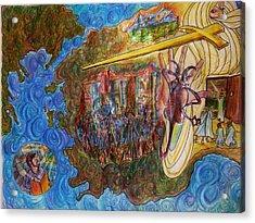 The Screams Of Philadelphia Acrylic Print by Richard  Hubal