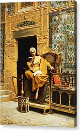 The Scribe Acrylic Print by Ludwig Deutsch