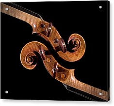 The Scroll And It's Clone Acrylic Print by Endre Balogh