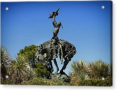 The Sculpture Invocation - Orange Texas Acrylic Print by Mountain Dreams