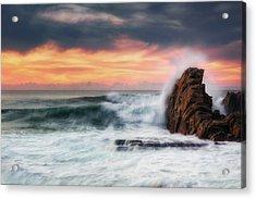 The Sea Against The Rock Acrylic Print