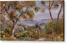 The Sea At Cagnes Acrylic Print by Pierre Auguste Renoir