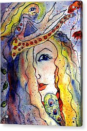 The Sea Becomes Her Acrylic Print by Robin Monroe