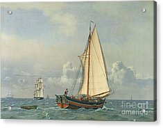 The Sea Acrylic Print by Christoffer Wilhelm Eckersberg