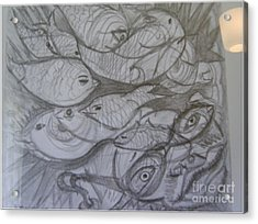 The Sea Diver Acrylic Print