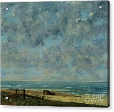 The Sea Acrylic Print by Gustave Courbet
