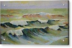 The Sea Acrylic Print by Mabel Moyano