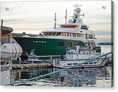 The Sea Owl, Mega Yacht Acrylic Print by Jens Lambert