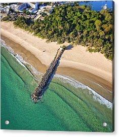 The Sea Wall Near Noosa Main Beach Acrylic Print