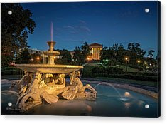 The Seahorse Fountain Acrylic Print by Marvin Spates