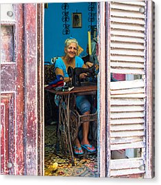 Acrylic Print featuring the photograph The Seamstress by Rand