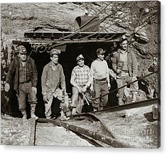 The Search And Retrieval Team After The Knox Mine Disaster Port Griffith Pa 1959 At Mine Entrance Acrylic Print