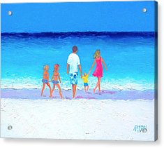 The Seaside Holiday - Beach Painting Acrylic Print