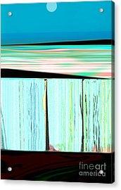 The Seawalls No. 1 Sunrise Acrylic Print