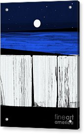 The Seawalls No.4 Full Moon Rising Acrylic Print