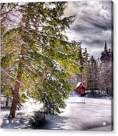 Acrylic Print featuring the photograph The Secluded Boathouse by David Patterson