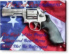 Acrylic Print featuring the digital art The Second Amendment by JC Findley