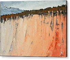 The Second Cliff Edge Acrylic Print by Carolyn Doe