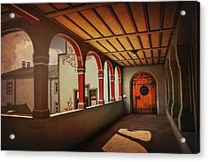 Acrylic Print featuring the photograph The Secret Door In Basel Switzerland  by Carol Japp