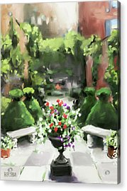 The Secret Garden Acrylic Print by Beverly Brown