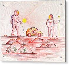 The Secret Garden Acrylic Print by Daniel House