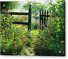 The Secret Garden Acrylic Print by Joyce Kimble Smith
