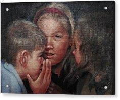 The Secret Acrylic Print by Janet McGrath