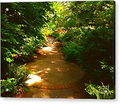 The Secret Path Acrylic Print by Becky Lupe