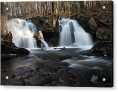 The Secret Waterfall In Golden Light Acrylic Print