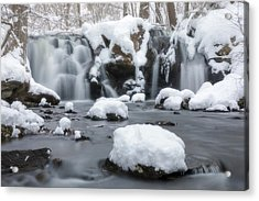 The Secret Waterfall In Winter 1 Acrylic Print