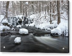 The Secret Waterfall In Winter 2 Acrylic Print
