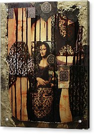 The Secrets Of Mona Lisa Acrylic Print by Michael Kulick