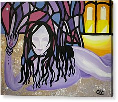 Acrylic Print featuring the painting The Seed by Carolyn Cable