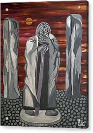 Acrylic Print featuring the painting The Seer by Carolyn Cable